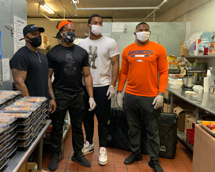 Denver Broncos Players Provide Meals During COVID-19
